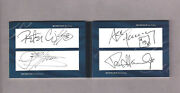 Kiss - All 4 Autos Paul, Gene, Ace And Peter Upper Deck Very Rare