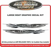 Large Boat Graphic Decal Kit , Fits Lund Boats