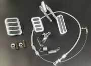 Billet Aluminum Gas Pedal + Brake And Clutch And Throttle Cable Bracket Spring Kit