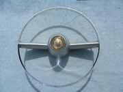 1954 1955 Cadillac Steering Wheel Horn Ring And Center Cap