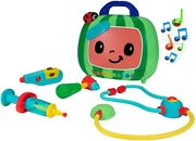 New Jj Cocomelon Musical Doctor Checkup Set Case Bag 4 Play Pieces