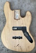 2014 Fender American Deluxe Jazz Bass Iv Ash Project Body Usa 4 String