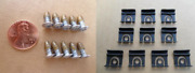 10 Nos Glass Molding Clips And Special Screws 1964 1/2 Thru 1966 Ford Mustang