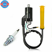 New Ignition Coil And Spark Plug Fit For Honda Sportrax400 Trx400ex 30500-hn1-003