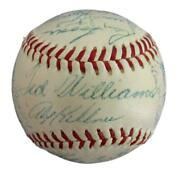 1954 Al All-star Team Signed By 28 Mantle/williams Oal Baseball Psa/dna 154748