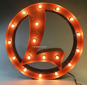 Lionel Vintage L Marquee Light Brand New Train Sign Display Decoration 9-42024