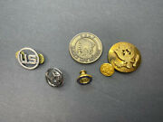 Gold Brass Eagle Us Air Force Enlisted Men Hat Emblem Pin Military Buttons Lot