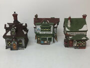 Dept 56 -the Mermaid Fish Shoppe-william Wheat Cakes-t Wells Fruit And Spice Shop