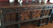 Jacobean Dining Set - Antique Highly Ornate And In Working Condition.