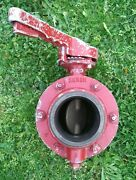 Used 4 Akron Butterfly Valve Intake Discharge Ldh Fire Hose Supply Fire Truck