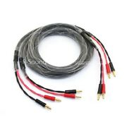 1pair 6n Ofc 4core Banana To Banana Plug Hifi Speaker Cable Front Surround Cord