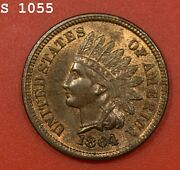 1864 L Ddo Indian Head Cent Vch Bu Rb Free S/h After 1st Item