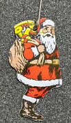 Vintage Meet Me At Bowmanand039s Santa Claus Advertisement Celluloid Pin