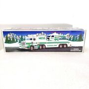Hess Trucks 1995 Toy Truck And Helicopter New In Box Head And Tail Lights Work