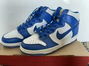 Nike Dunk High Le Kentucky Blue 1998 Vintage 630335-141 Size Us 8 With Box