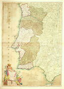 The Kingdoms Of Portugal And Algarve From Zannoniand039s Map By Laurie And Whittle 1803