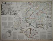 Hampshire By Thomas Kitchin For The Large English Atlas Circa 1765.