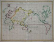 A General Chart Of The World By Samuel Neele 1808.