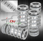 For 96 97 98 99 00 Civic Lx Dx Ex Scaled Coilovers Silver Coil Springs Lowering