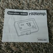 Ritetemp Thermostat 8085c Programmable Used Touchscreen Operation Owners Manual