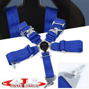 3 Blue Single 5 Point Pt Harness Camlock Racing Seat Belt Safety Latch Clip On