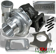 .63a/r T3/t4 T04e Turbo Charger+ Downpipe Flange + T3 Manifold Flange