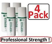 4 Brand New Biofreeze Roll-on Pain Relieving Roll On 3 Oz Genuine Biofreeze