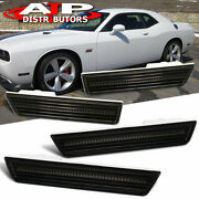 08-14 Dodge Challenger White Led Smoke Lens Side Marker Replacement Lh Rh