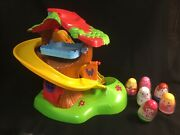 Hasbro 2009 Weebles Musical Treehouse Slide W/ Sounds + 6 Figures