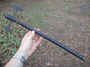 Antique Civil War Era Axe Wood Cane 21 Walking Stick Or Maybe African Primitive