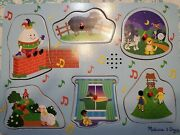Melissa And Doug Nursery Rhymes Puzzle Pegs Sound Puzzle 8pc