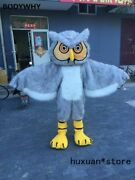 Lovely Bird Owl Mascot Costumes Fancy Dress Adult Size Cosplay Party Game Dress