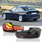 Dragon Scale Black Full Led Sequential Taillights For 12-18 Bmw F30 3er F80 M3
