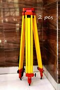 Tripod Level Heavy Aluminum Section Stand Lock Surveying Survey Work Lots Of 2