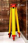 Tripod Level Heavy Aluminum Section Stand Lock Surveying Survey Work Lots Of 3