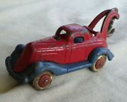 Vtg Ac Williams Take Apart Tow Truck Wrecker Cast Iron Red And Blue 4 3/4