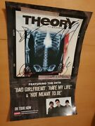 Theory Of A Deadman Scars And Souvenirs Tour Signed Autograph 11x17 Poster