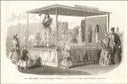 Childrens Clothing Display Crystal Palace, New York, Antique Engraving 1853