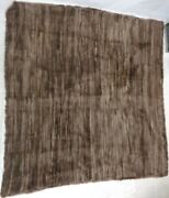 Refurbished New Brown Beaver Fur Knitted Blanket Throw Bed Sofa Cover 78 X 80
