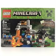 Lego Minecraft The Cave 21113 Steve Zombie Spider Blocks New Sealed