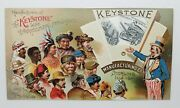 The Keystone Line Agricultural Implements Mechanical Trade Card W/uncle Sam