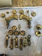Sherle Wagner Brass Dolphin Faucet+handle Fixtures Vintage From Original Owner
