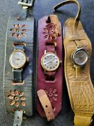 1960and039s Hippie Rare Vintage Timex Mechanical Leather Bracelets Timex Watches Wow