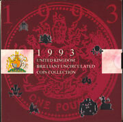 1993 United Kingdom Brilliant Uncirculated Coin Collection Set Rare Eec 50 Pence