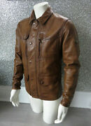 Matchless Kensington Evolution Classic Brown Leather Jacket Uk Large Rrp Andpound1380