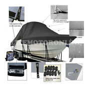 K2 Marine Frontier 210 Center Console T-top Hard-top Fishing Boat Cover Black