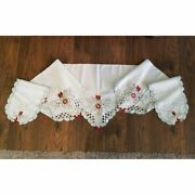 Vintage Christmas Mantle Embroidery Scarf