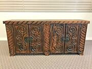 Mid Century Modern Witco Console Credenza Wood Vintage Cabinet Back Bar Tiki 60s