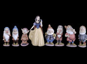 Lladro Collectors Figurines Snow White And The Seven Dwarfs Disney 6 Signed