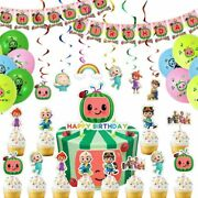 Cocomelon Birthday Party Supplies For Kids Cocomelon Theme Party Decorations Set